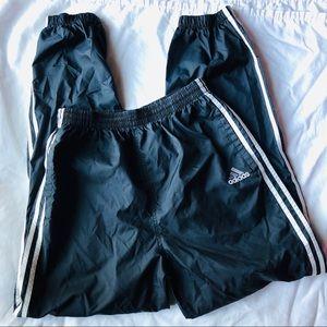 Adidas Pant Med Vintage Black Stripe Windbreaker